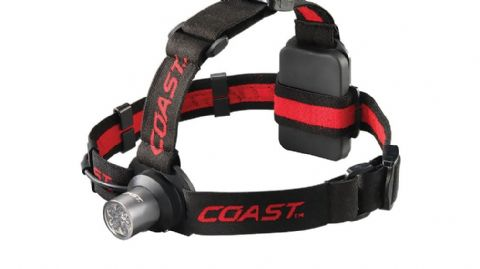 Coast Unisex HL5 LED Head Torch - 175 Lumens - Hard Hat Compatible - Hinged Beam